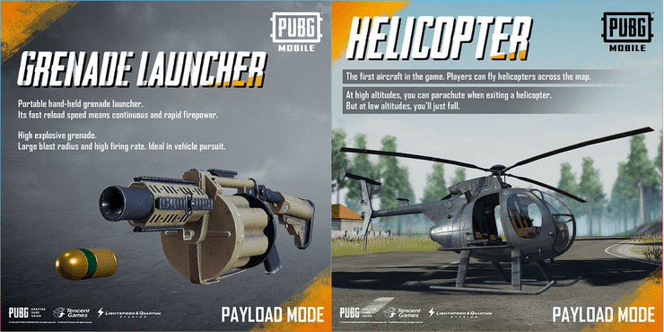 PUBG Mobile Payload Mode Features