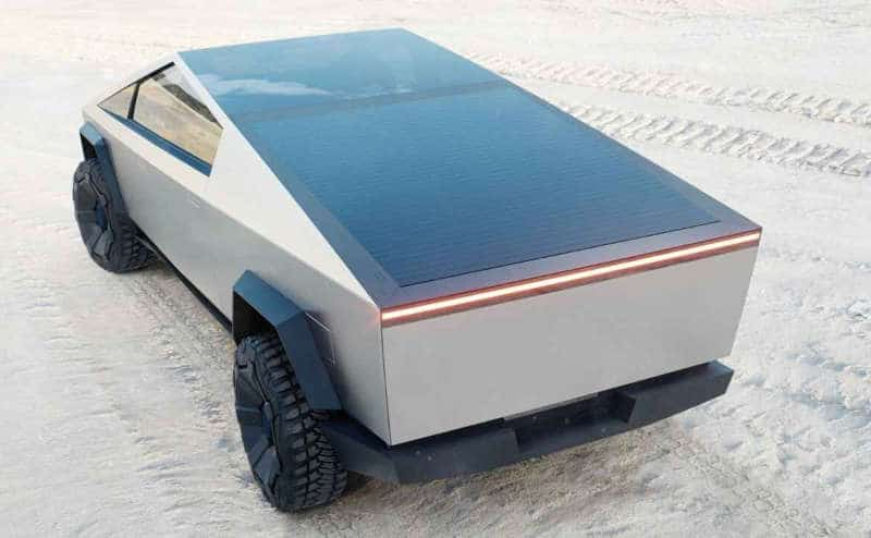 The Tesla Cybertruck with Solar Roof
